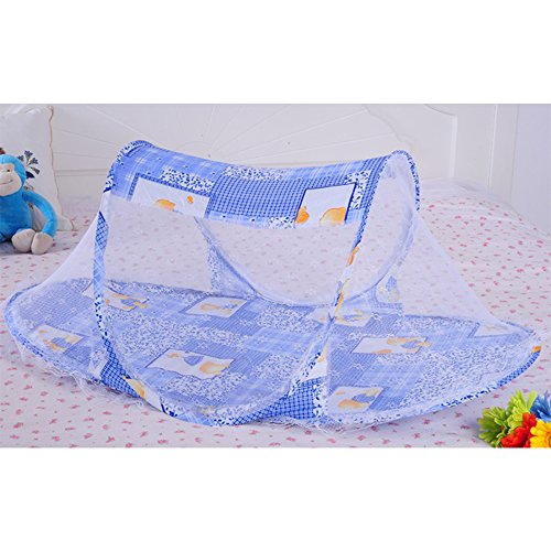 Baby Mosquito Net Multifunctional Children's Portable Folding Mosquito Net, Blue by TOP SEWING