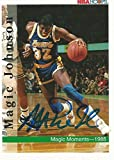 1992 Skybox Hoops LA Lakers Magic Johnson #329 Signed Auto Card IN PERSON PROOF - Basketball Slabbed Autographed Cards