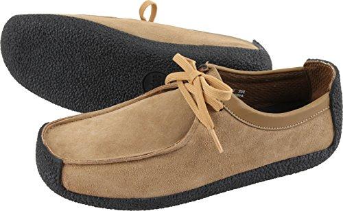 Gadae-001 Unisex Klassieke Lederen Mocassin Loafers Schoenen Zand