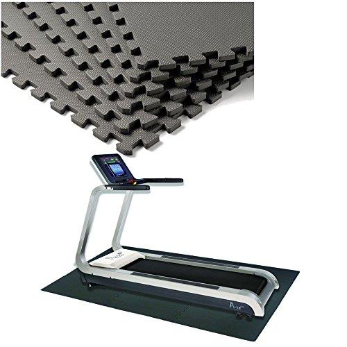12 Stück Schutzmatten Set Bodenschutz Matte Bodenschutzmatte Puzzlematte Gymnastikmatte Unterlegmatte Bodenmatte (Schwarz)