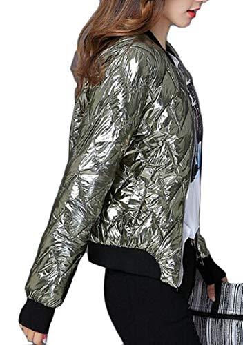 Packable Jacket Gocgt Lightweight Down Green Premium Bomber Womens Ax4qB1Pw5