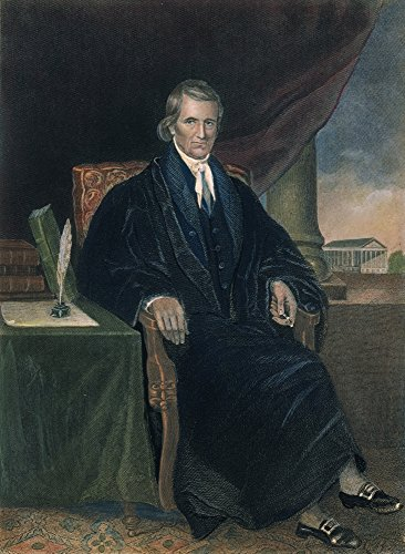(John Marshall (1755-1835) Nchief Justice Of The United States Supreme Court 1801-1835 Color Engraving 19Th Century Poster Print by (18 x 24))