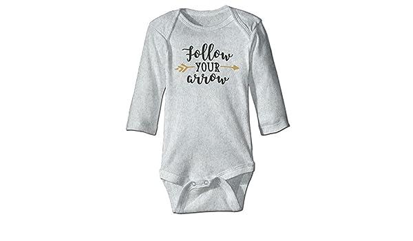 Midbeauty Follow Arrow Newborn Cotton Jumpsuit Romper Bodysuit Onesies Infant Boy Girl Clothes