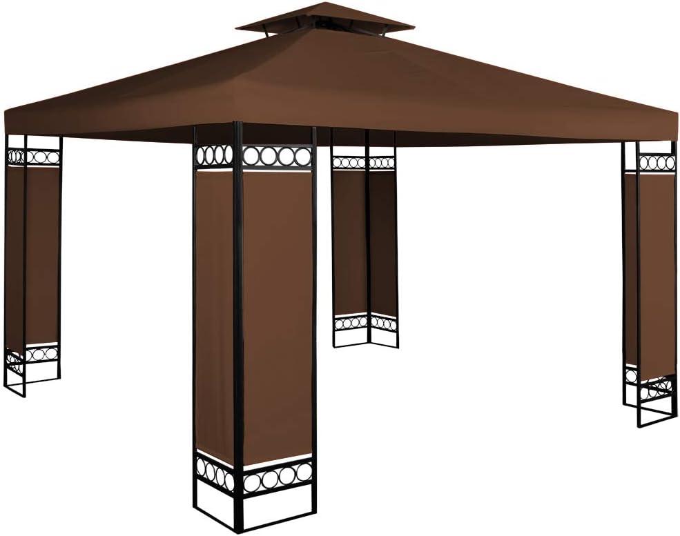 Deuba Carpa de 3 x 3 m Lorca con protección UV 50+ cenador pabellón de jardín Color Marrón para Exterior hidrófugo: Amazon.es: Jardín