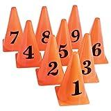 US Games 9'' Lightweight Orange Cones W/Numbers