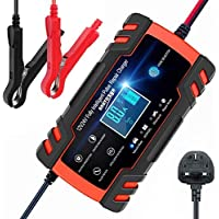 ANEAR Car Battery Charger, 12V 24V Battery Charger & Maintainer, 3-Stage Automatic Trickle Battery Charger Maintainer…