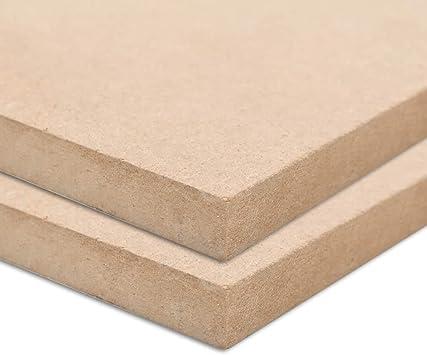 vidaXL 4x MDF Platten 60x60 cm 12 mm Mitteldichte Faserplatte Holzzuschnitt