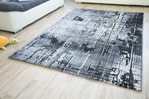 Designer Teppich Modern Tivoli Vintage Muster in grau, Größe: 120x170 cm