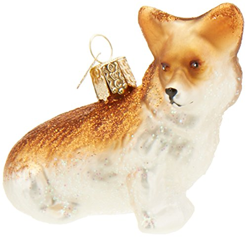 Old World Christmas Ornaments: Pembroke Welsh Corgi Glass Blown Ornaments for Christmas Tree