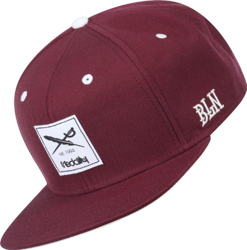 iriedaily Snapback Cap DAILY FLAG Maroon, Size:ONE SIZE