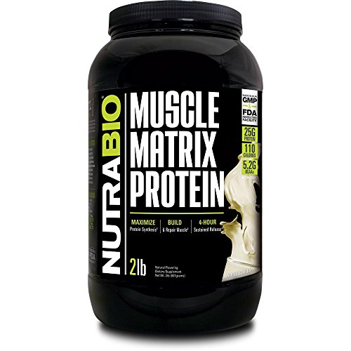 NutraBio Muscle Matrix – Whey Protein Blend (Vanilla, 2 Pounds) Review