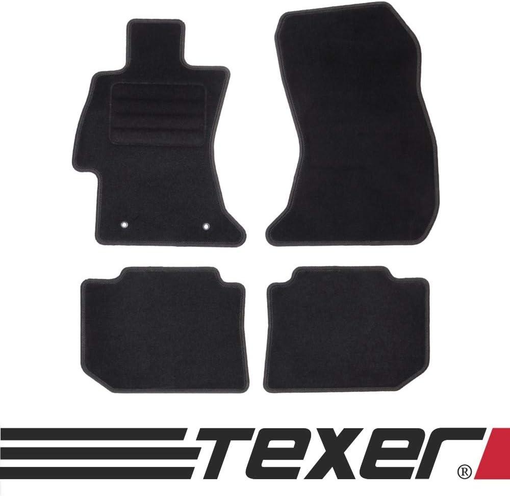 Texer Textil Fußmatten Passend Für Subaru Impreza Iv Wrx Sti Bj 2014 2018 Basic Auto