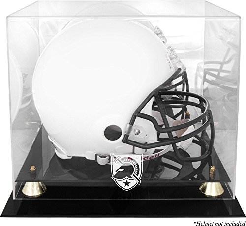 Sports Memorabilia Army Black Knights Golden Classic Team (2015-Present Logo) Helmet Display Case with Mirrored Back - College Football Helmet Free Standing Display Cases ()