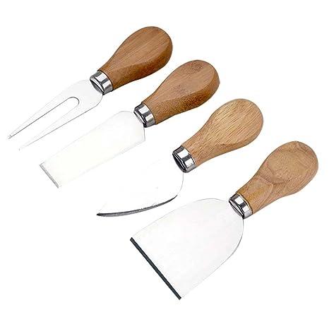 Espeedy cortar el queso,4 Unids / set Juego de Tenedor de Pala de Cortador Kit de Corte de Queso de Acero Inoxidable Accesorios Útiles Herramientas de ...