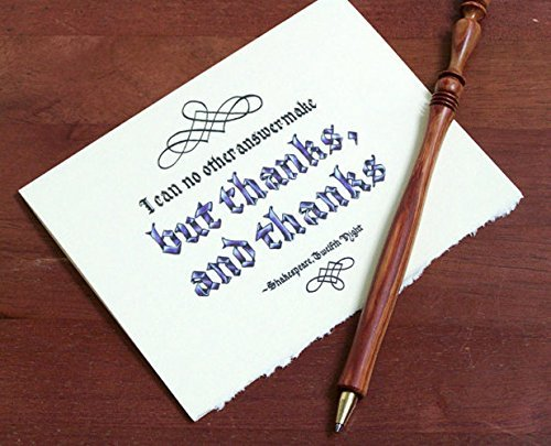 Thank You Cards, Set of 10, with Shakespeare Quote