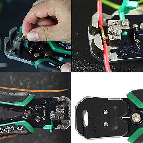 自動ワイヤーストリッパー、ワイヤーストリップ、切断用圧着工具の調整1多機能セルフで3、ソリッド圧着及び本鎖AWGワイヤー