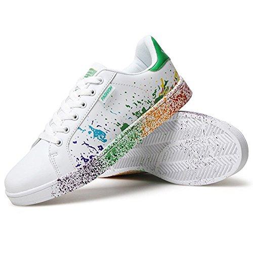 Fitness zhenghewyh Uomo Scarpe bianca verde 2 Outdoor Multisport Donna Basse Ginnastica Sneakers TwgRwqO