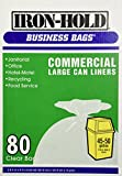 Business Bags Commercial Large Trash Can Liners (80 Ct.)