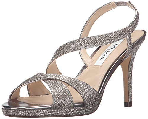 Nina Women's Brilyn-Yf Dress Pump, Latte Dreamland/Metallic Foil, 9 M US