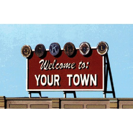 Blair Line Ho Scale Laser - Blair Line HO/O Scale Laser-Cut Billboard, Welcome to Yourtown
