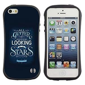 Suave TPU GEL Carcasa Funda Silicona Blando Estuche Caso de protección (para) Apple Iphone 5 / 5S / CECELL Phone case / / Stars Inspiring Text Motivational Blue /