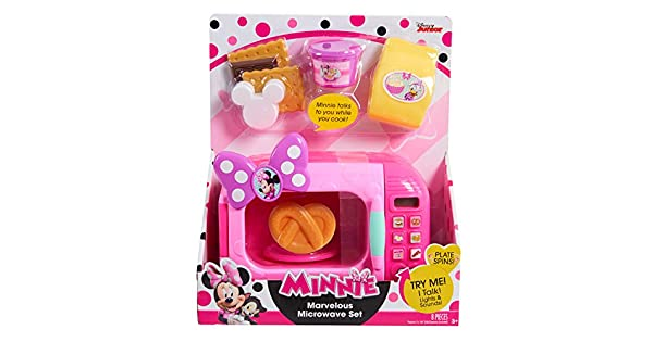 Amazon.com: Just Play Minnie Bow-Tique Marvelous Microondas ...