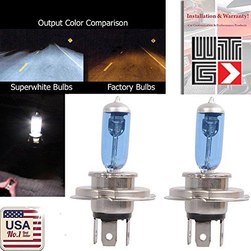 WTG H4 Super White Halogen Headlight Light Bulbs 100W (Contains 2 Bulbs)