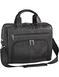Kenneth Cole Reaction Colombian Leather Double Compartment Expandable Top Zip Computer Case Laptop Briefcase,...