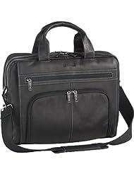 Kenneth Cole Reaction Colombian Leather Double Compartment Expandable Top Zip Computer Case Laptop Briefcase,...