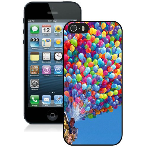 Coque,Fashion Coque iphone 5S Colorful Balloons House Up Movie Noir Screen Cover Case Cover Fashion and Hot Sale Design