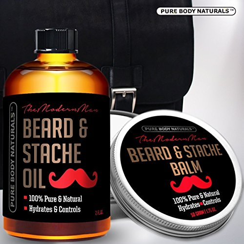 Pure-Body-Naturals-Hydrating-Beard-and-Stache-Duo-Kit-with-Gift-Bag-Oil-2-oz-Balm-175-oz