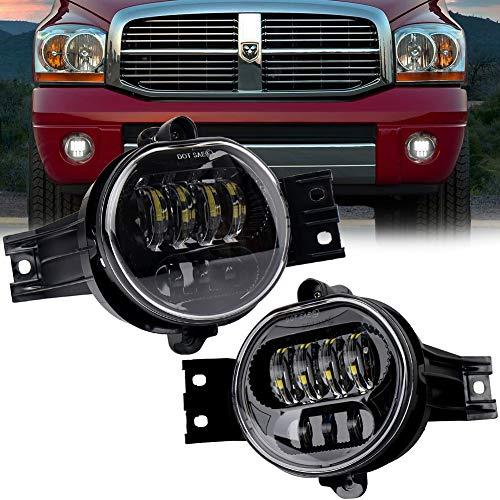 LED Fog Lights 63W Projector Driving Fog Lamps for Dodge Ram 1500 2500 3500 Pickup Truck 2002-2009