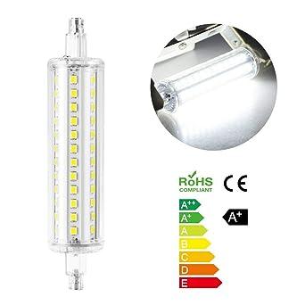 Bombilla LED R7S Lámparas de tubo de cuarzo blanco frío de 10 W 118 mm no