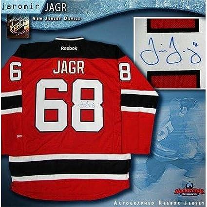 big sale c7c6c 50f21 Signed Jaromir Jagr Jersey - Red Reebok - Autographed NHL ...