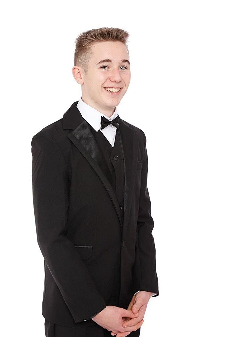 Boys Black Tuxedo Suit 5 Piece Age 1-15 Years