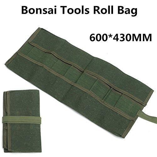 RanDal Paquete de almacenamiento de herramientas de bonsai de lona Estuche organizador de herramientas de bolsa de rollo 600 * 430Mm Verde: Amazon.es: Industria, empresas y ciencia