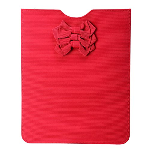 Red Valentino Women's Red Bow Decorated Pouch Ipad Case Womens Valentino Bow