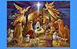 Holy Nativity CHRISTMAS HOLIDAY edible IMAGE CAKE TOPPER DECORATION party personalized Jesus mary holiday gift winter