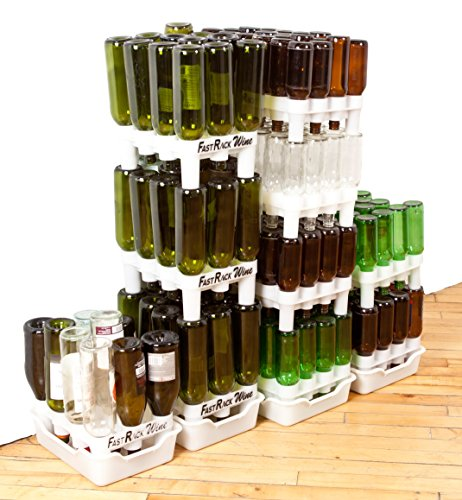 FastRack Bottle Drying Rack - Bottle Drying Tree alternative; Dry & Store your Wine or Bomber/Belgian Bottles; Perfect addition to your Wine Fermentation Kit (FastRack12 One Rack & One Tray) by Fastrack (Image #5)'