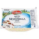 Galbani Whole Milk Low Moisture Mozzarella Cheese, 5 Pound -- 6 per case.