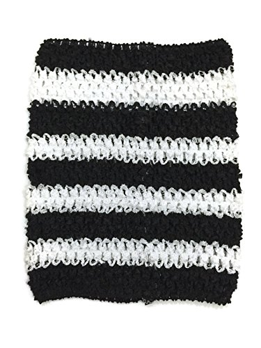 Rush Dance Crochet Tutu Fairy Princess Pettiskirt Halter Top (One Size, Black & White (Zebra Tutu With Headband)