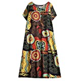 Opinionated Women's O-Neck Cotton Dress ...