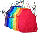 ColorYourLife 7-Pack Non-woven Assorted Colors Children's Artists Aprons in Retail Packaging
