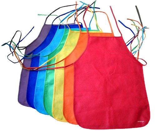 coloryourlife-7-pack-non-woven-assorted-colors-childrens-artists-aprons-in-retail-packaging