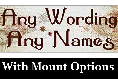 - SLobyy Personalised Any Name Wording Outdoor Shabby Chic Vintage Old Sign Plaque Address Gate House Door Wall Number Garden Wooden Plaque 11