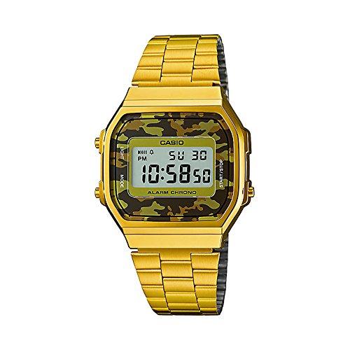 Casio A168WEGC-3VT classic gold / camouflage (brown) / brown size Uni