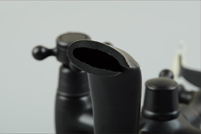 JWLT Todo el cobre, bronce, negro simple ducha ducha, bañera de estilo europeo, edge, antigüedades grifo caliente y fría, teléfono imitación de antiguas ...