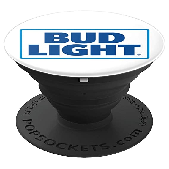 Amazon com: Bud Light Logo PopSockets Stand for Smartphones