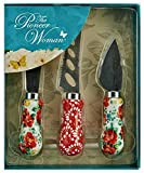 The Pioneer Woman 3 Piece Cheese Knife Set, Vintage Floral