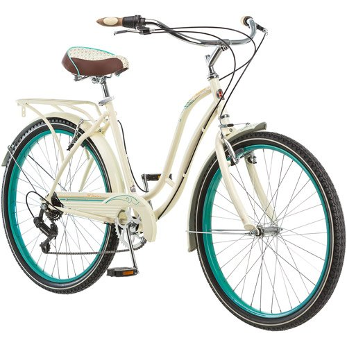 26'' Schwinn Fairhaven Women's 7-speed Cruiser Bike, Cream